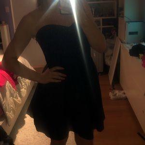 lauren james strapless navy dress